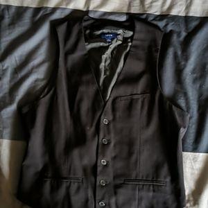 Men's black suit vest